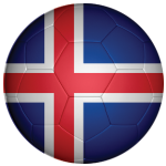 Iceland Football Flag 25mm Button Badge